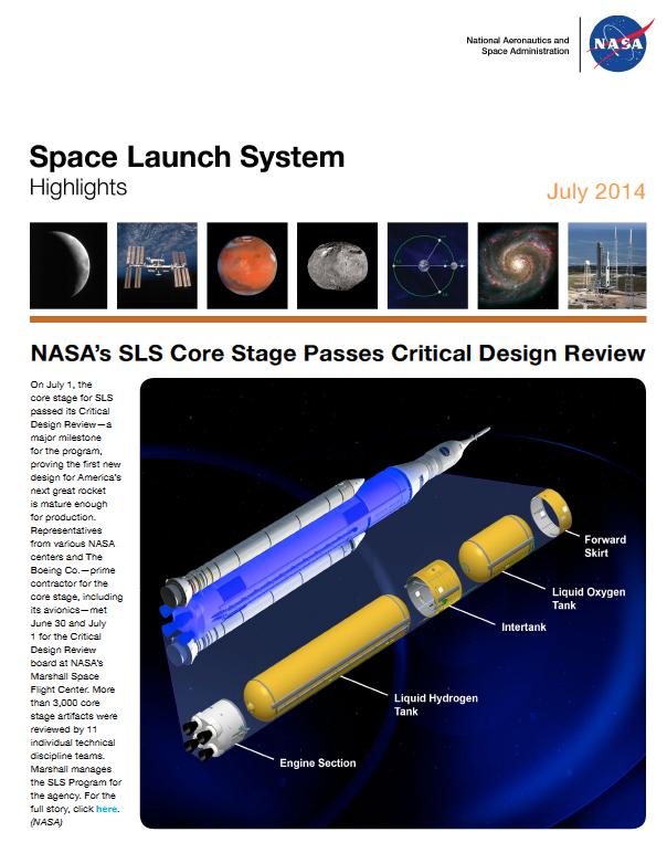 SLS core NASA