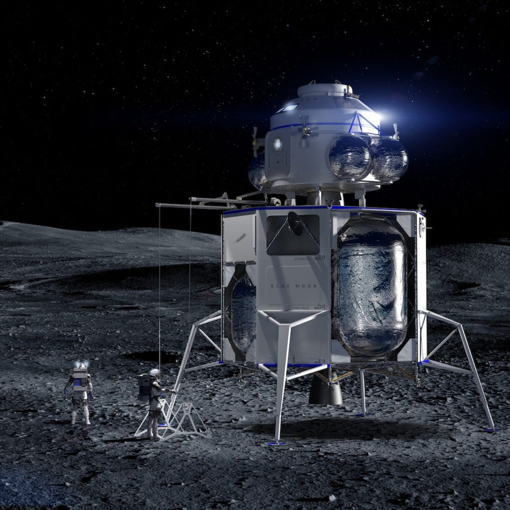 National Team human lunar lander. Credit: Blue Origin