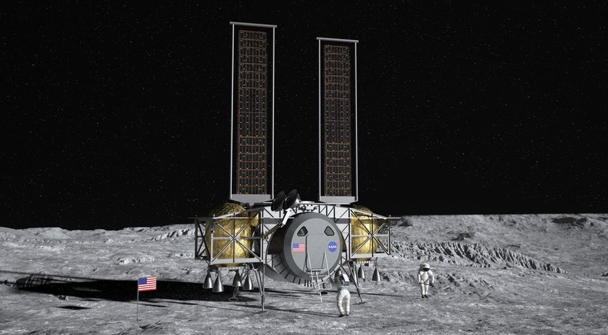 Dynetics lander concept. Credit: Dynetics